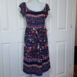Knox Rose womens spring summer boho dress size M